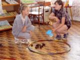 Развлекательно-познавательные игры в Центральной детско-юношеской библиотеке им. К. Д. Новилоса