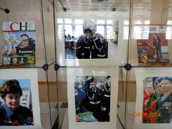 Цикл выставок, посвященных Дню Победы, в большом зале центральной библиотеки им. А.Н. Зырянова организован